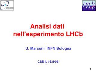 Analisi dati  nell'esperimento LHCb
