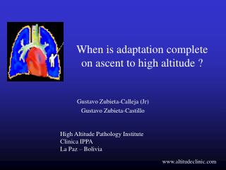 When is adaptation complete on ascent to high altitude ?