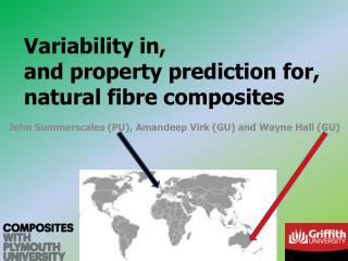 Variability in, and property prediction for, natural fibre composites