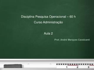 Prof. André Marques Cavalcanti