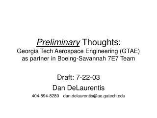 Draft: 7-22-03 Dan DeLaurentis 404-894-8280dan.delaurentis@ae.gatech