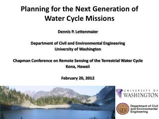 Planning for the Next Generation of Water Cycle Missions