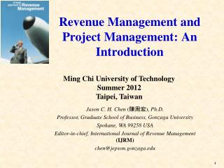 Revenue Management and Project Management: An Introduction