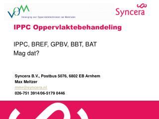 IPPC Oppervlaktebehandeling