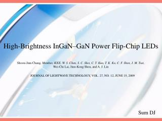 High-Brightness InGaN–GaN Power Flip-Chip LEDs