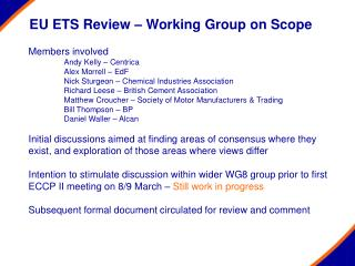 EU ETS Review – Working Group on Scope