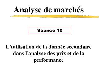 Analyse de march�s