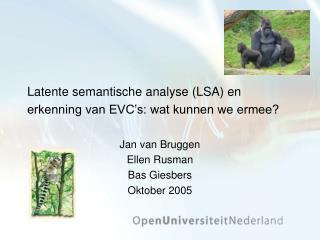 Latente semantische analyse (LSA) en erkenning van EVC's: wat kunnen we ermee?