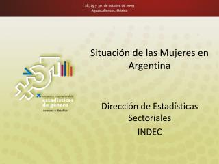 Situación de las Mujeres en Argentina
