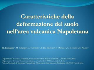 Caratteristiche della deformazione del suolo nell'area vulcanica Napoletana