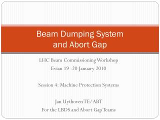 Beam Dumping System and Abort Gap