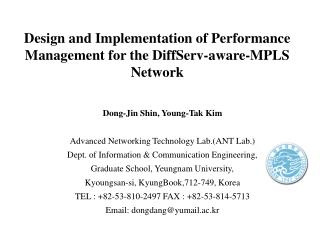 Design and Implementation of Performance Management for the DiffServ-aware-MPLS Network