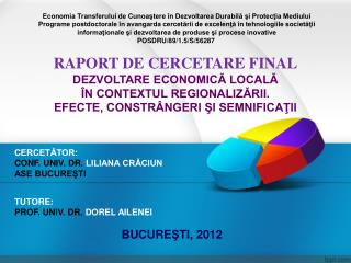 CERCETĂTOR: CONF. UNIV. DR.  LILIANA CRĂCIUN ASE BUCUREŞTI