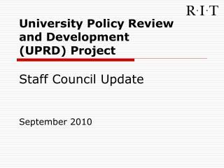 Staff Council Update