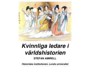 Kvinnliga ledare i världshistorien