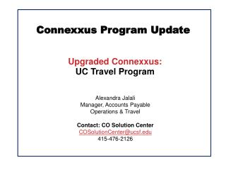 Connexxus Program Update