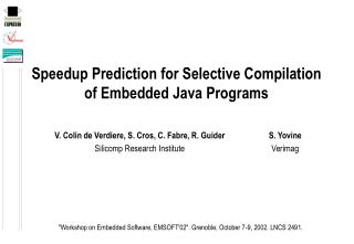 Speedup Prediction for Selective Compilation of Embedded Java Programs