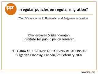 Irregular policies on regular migration?