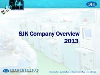 SJK Company Overview                              20 13