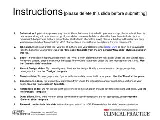 Instructions  [please delete this slide before submitting]