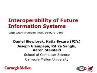 Interoperability of Future Information Systems
