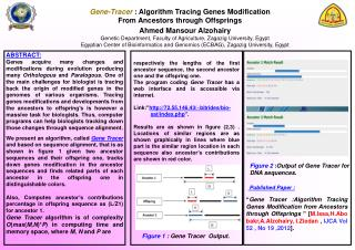 Gene-Tracer  : Algorithm Tracing Genes Modification  From Ancestors through Offsprings