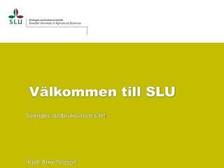 Välkommen till SLU