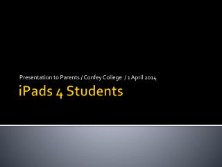 iPads  4 Students