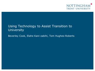 Using Technology to Assist Transition to University
