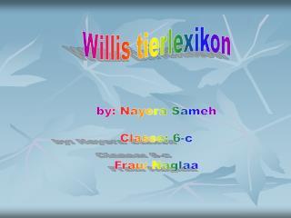 Willis tierlexikon