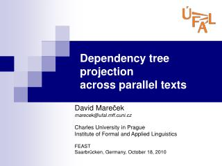 Dependency tree projection across parallel texts