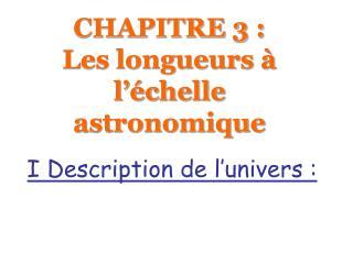 CHAPITRE 3 : Les longueurs   l  chelle astronomique