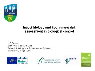 Insect biology and host range: risk assessment in biological control