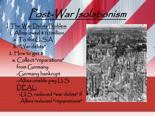 Post-War Isolationism