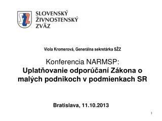 Bratislava, 11.10.2013