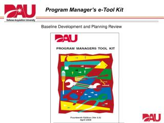 Program Manager's e-Tool Kit