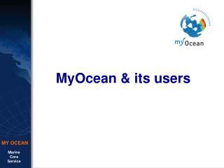 MyOcean & its users
