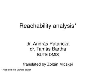 Reachability analysis*