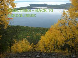 Sometimes –  back  to school  issue IV/2013