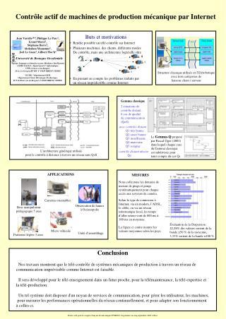 Contrôle actif de machines de production mécanique par Internet