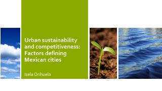 Urban sustainability and competitiveness: Factors defining Mexican cities