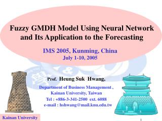 Fuzzy GMDH Model Using Neural Network  and Its Application to the Forecasting