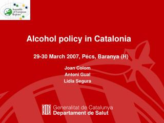 Alcohol policy in Catalonia