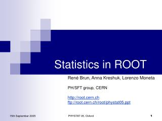 Statistics in ROOT