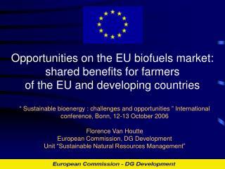 Key aspects of EU policy on biofuels