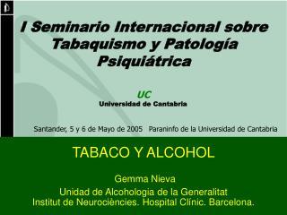 TABACO Y ALCOHOL Gemma Nieva