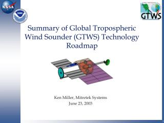Summary of Global Tropospheric  Wind Sounder (GTWS) Technology Roadmap