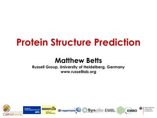 Protein Structure Prediction Matthew Betts Russell Group, University of Heidelberg, Germany