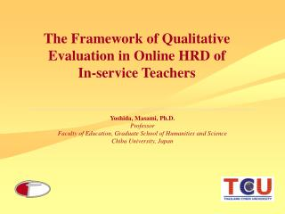 The Framework of Qualitative Evaluation in Online HRD of In-service Teachers