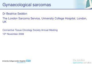 Gynaecological sarcomas